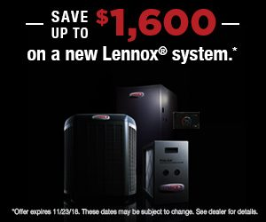 Save up to $1,600 on a new Lennox system. Click for details.